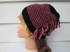 Very unique beanie Winter hat is Great accessory for any time of the year, Dressy and elegant.  Knit hat Fits a full size adult head.  Its hand