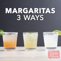 Lime Margaritas Literally just leave out the alcohol (for the plain ones) and boom.Literally just leave out the alcohol (for the plain ones) and boom.