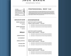 Modern Resume Layout Modern Resume Template For Word 13 Page Resume  Cover Letter  .