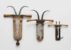 The Three Billy Goats Gruff Have a top weekend! Rustic Sculptures, Kirsty Elson, Billy Goats Gruff, Goat Art, Fence Art, Scrap Metal Art, Rustic Art, Junk Art, Trash To Treasure