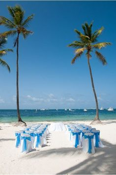 No arch is needed for a gorgeous beach wedding #DreamsPalmBeachPuntaCana #DominicanRepublic #Destinationwedding