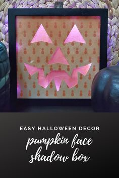 Easy Halloween decor using paper, tissue paper, a shadow box frame, and mini LED lights. #halloween #halloweendecor #halloweencraft #pumpkin #pumpkincraft Halloween Shadow Box, Up Halloween, Halloween Crafts, Fun Crafts, Crafts For Kids, Amazing Crafts, Decor Crafts, Easy Diy Costumes, Easy Halloween Decorations