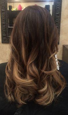 Balayage hair. Natural balayage hair. Blonde balayage, brown balayage, bronde balayage haircolor.