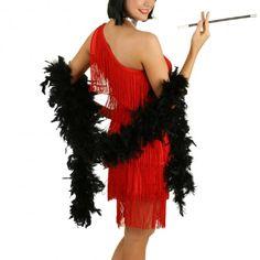 2m Black Feather Boa