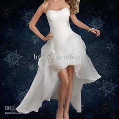 Wholesale Mermaid Wedding Dresses - Buy HOT !! High Low Wedding Dresses Sweetheart Chiffon Charming Beaded White Causal Bridal Gowns Beach Party Gowns HP0637WM, $87.99 | DHgate