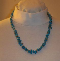 Necklace Jewelry Turquoise Dyed Howlite Flat Shell by NalisNotions, $40.00