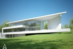 Individual modern Architectural design and concepts. Minimal Architecture, Modern Architecture House, Residential Architecture, Architecture Details, Minimalist House Design, Modern House Design, Glass House Design, Narrow House Designs, Living Haus