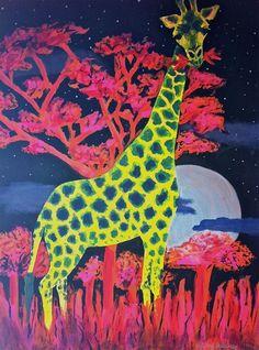 Giraffe Art Print by Sydney Stuckey | Society6