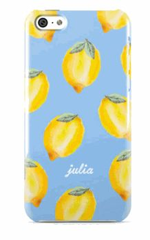 $59.00. All Over Lemon on Blue Phone case from Minnie&Emma Correspondence. Also available for iPad. Ship worldwide with Borderlinx.com