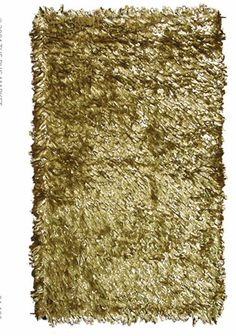 metallic gold rug - for a white and gold marble themed bathroom or imagine a black marble floor with this gold....