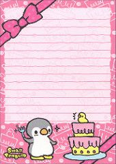 """Kamio """"Small Penguin"""" Memo (Sheet) (3) Stationary Printable, Cute Stationary, Printable Stickers, Free Printables, Cute Office Supplies, Cute Envelopes, Simple Artwork, Hello Kitty Pictures, Cover Design"""