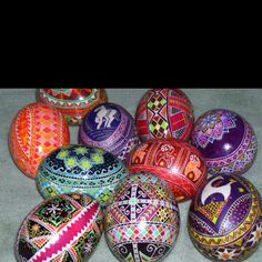 Beautiful Ukrainian Pysanky Eggs by my favorite Pysanky Artist, Katrina Lazarev.