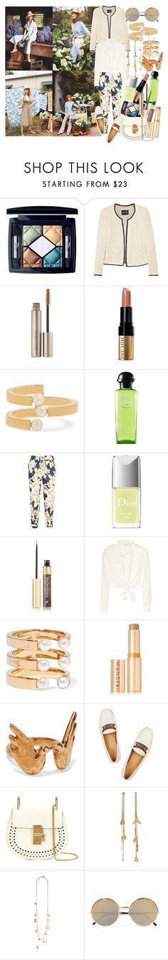 """""""Finding happiness seemed simple compared to shaking sadness from the cobwebs in our heart"""" by brownish ❤ liked on Polyvore featuring Christian Dior, Isabel Marant, Laura Mercier, Bobbi Brown Cosmetics, Chloé, Hermès, J.Crew, Yves Saint Laurent, Maje and Wander Beauty"""