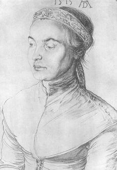 """Porträt eines Mädchens"", 1515, Albrecht Dürer (1471-1528)"