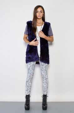 Archaic Knit Gillet - Midnight by EVIL TWIN.