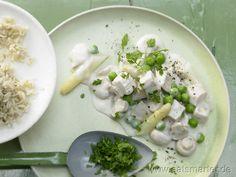 Hühnerfrikassee - smarter - mit Spargel und Champignons. Kalorien: 340 Kcal   Zeit: 50 min. #lunch