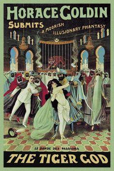 Strobridge - Magicians: Horace Goldin, Magician: The Tiger God - art prints and posters