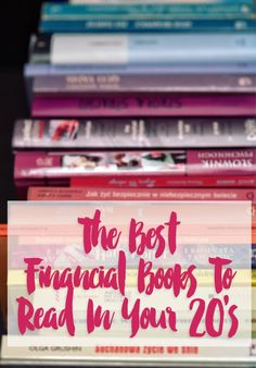If you want to experience the most financial success, you need to start early. Not sure where to start? These personal finance books to read in your 20's will help! Pin this valuable resource list!