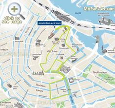 Eco Tours canal cruises water routes Amsterdam top tourist attractions map