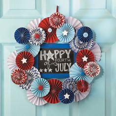 Patriotic Medallion Wreath - OrientalTrading.com
