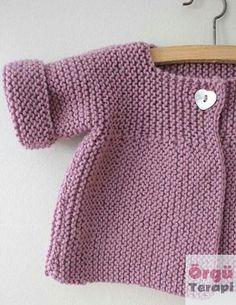 Baby Knitting Patterns, Baby Cardigan Knitting Pattern Free, Knitted Baby Cardigan, Knit Baby Sweaters, Toddler Sweater, Knitting For Kids, Free Knitting, Baby Sweater Patterns, Cardigan Sweaters