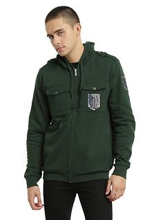 Attack On Titan Scouting Legion Jacket HoodieAttack On Titan Scouting Legion Jacket Hoodie, GREEN