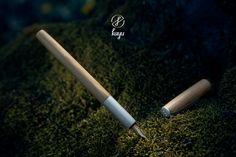 Larch with silver Fountain Pen, Peru, Natural, Silver, Design, Shopping, Turkey, Nature