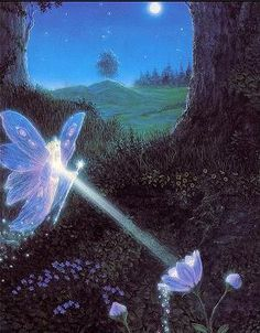 ≍ Nature's Fairy Nymphs ≍ magical elves, sprites, pixies and winged woodland faeries - Gilbert Williams