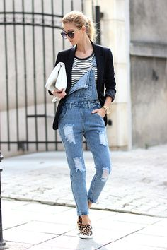 Sirma Markova: Denim and Stripes/ Denim dungaree Choies - http://www.choies.com/product/denim-dungaree-with-cut-out?cid=370bella , T-shirt Choies - http://www.choies.com/product/loose-stripe-t-shirt?cid=370bella , Slip-on sneakers Persunmall - www.persunmall.com/p/casual-musthave-leopard-love-plimsolls-p-24074.html?refer_id=8918 , Bag Choies - http://www.choies.com/product/choies-hand-made-soft-clutch-bag-in-cream-white?cid=370bella
