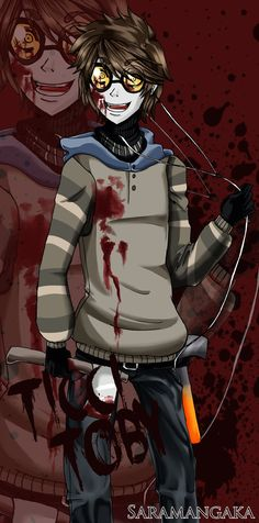 Hi guyz! I make a new fanart.. this time is of Ticci Toby, a slender's proxy, creepypasta! His story is so awesome.. he went crazy when his sister died.. ç_ç Poor Toby hope li...