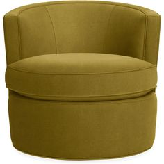 Otis Swivel Chair ($699) ❤ liked on Polyvore featuring home, furniture, chairs, accent chairs, interior, decor, green, swivel tub chair, set of two chairs and set of 2 accent chairs