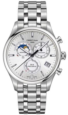 Certina Watch DS-8 Chrono Moon Phase #bezel-fixed #bracelet-strap-steel #brand-certina #case-material-steel #case-width-42mm #chronograph-yes #classic #date-yes #delivery-timescale-call-us #dial-colour-silver #gender-mens #moon-phase-yes #movement-quartz-battery #new-product-yes #official-stockist-for-certina-watches #packaging-certina-watch-packaging #style-dress #subcat-ds-8 #supplier-model-no-c033-450-11-031-00 #warranty-certina-official-2-year-guarantee #water-resistant-100m