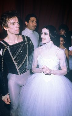 Italian ballet dancer Carla Fracci and Russian-born Austrian ballet dancer and choreographer Rudolf Nureyev wearing stage costumes at Opera Theatre after a ballet. 1980 Get premium, high resolution news photos at Getty Images Peter Beard, Michelle Phillips, Bernadette Peters, Lauren Hutton, Salma Hayek, Camilla, Deauville Festival, Le Bourgeois Gentilhomme, Nureyev