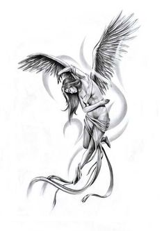 Эскизы тату ангелы