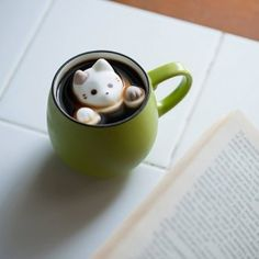 Cat Marshmallows: The Cutest Addition to Your Winter Drink  Is there anything better on a cold winter day than curling up with a mug of hot chocolate? Yes there is. And it involves curling up with a mug of liquid chocolate filled with marshmallows shaped like kittens. (Ignore for a second that they're drowning.)