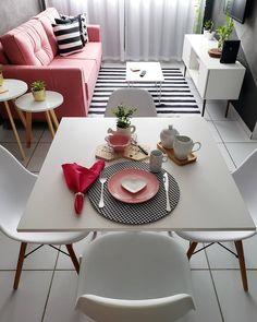 Home Room Design, Dream Home Design, Living Room Designs, Living Room Decor, Bedroom Decor, House Design, Apartment Decorating On A Budget, Apartment Interior Design, Small Apartment Living