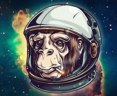 Adobe Illustrator Tutorial: How to Draw an Astrochimp Word Drawings, Cute Couple Drawings, Monkey In Space, Valentines Day Drawing, Moon Drawing, Illustration Techniques, Adobe Illustrator Tutorials, Love Illustration, Beautiful Drawings