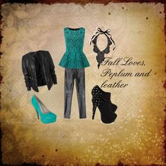 """Peplum and Leather"" by carrie-lashell on Polyvore"