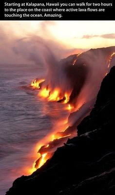 Active volcanos #hawaii #lava #volcano Will be here in January!! Ron and I can't wait.