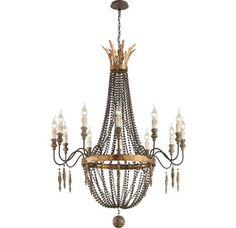 $1350 View the Troy Lighting F3537 Delacroix 12 Light Candle-Style Chandelier at Build.com.