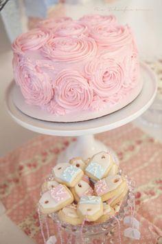 Cute cake and tea ba