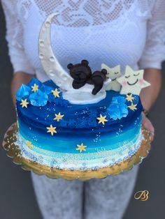 Tort din crema cu steluțe, bezele ursuleț dormind pe luna. Cofetăria BBcakes Timisoara Dumbravita Birthday Cake, Desserts, Food, Tailgate Desserts, Deserts, Birthday Cakes, Essen, Postres, Meals
