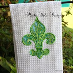 Fleur De Lis Applique Tea Towel by Misha Cole by mishacoledesigns, $13.00