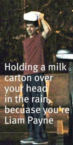 Only Liam :P why are the UKs milk cartons so wide and thin?<< to hold over your head when it's raining