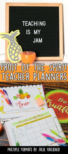 Teacher Planners for Secondary, Entire Catalog of Printable and Digital Options, Teacher Calendars, Classroom Planning, Educational Resources, Google Calendars, Google planners Fruit of the spirit, Christian teachers