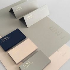 Tonic Design stationary by Unknown Jhb @ #Tonicdesign #cooperateidentity #design #southafricandesign #colour #graphicdesign