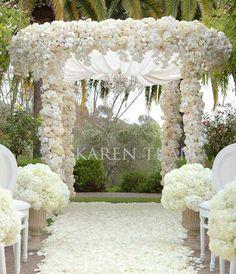 Luxury Glamorous Indoor Wedding-Ceremony Arch decorations Archives ...