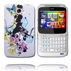 Valentine (Mixed Circles - Blue Butterfly) HTC ChaCha Cover