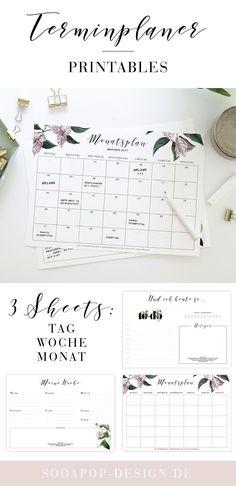 Terminplaner Printable Kalender Selber Basteln 2018 Ausdrucken Vorlagen Selbst Gestalten