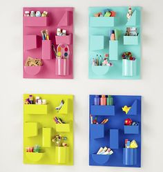 Could totally DIY one of these with a sheet pan, containers and magnets. Voila! Craft Storage.